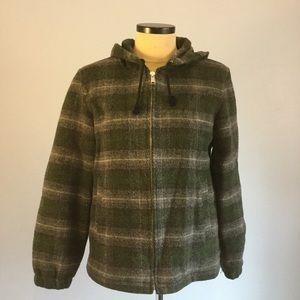 J.Crew Medium Wool Zip Front Hooded Duffle Coat